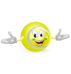 tennis ball man vector image vector image