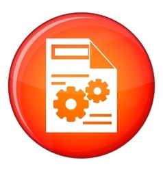 Web setting icon flat style vector image vector image