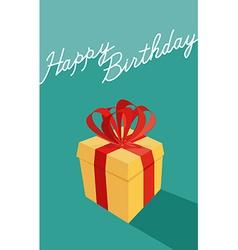birthday cartoon gift box Happy birthday card vector image