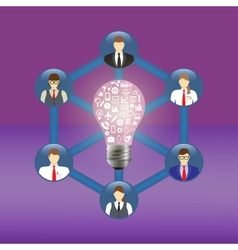 Business idea and teamwork concept vector image vector image