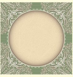 retro green frame real paper effect vector image vector image