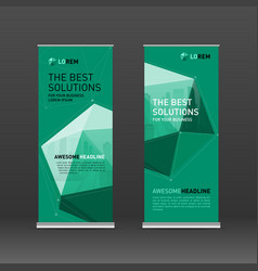 roll up banner design layout vector image