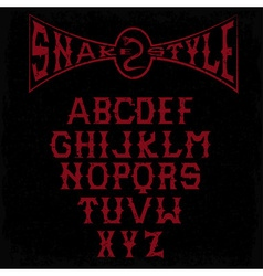 snake style gothic grunge alphabet vector image vector image
