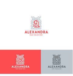 a letter logo template vector image vector image
