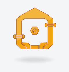abstract home logo design vector image