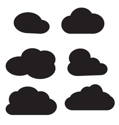 cloud icon on white background cloud sign vector image vector image