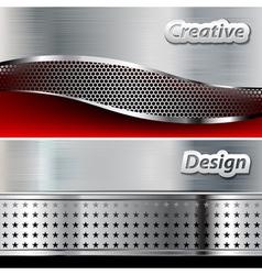 Metal background design vector image vector image