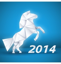 New year Horse background concept vector image