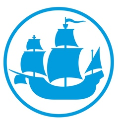 old ship icon vector image vector image