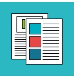 paper documents file icon vector image