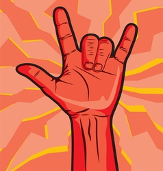 Rock Roll Hand Sign vector image