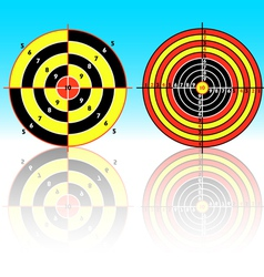 set targets for practical pistol shooting exercise vector image
