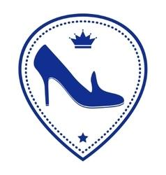 Vintage women shoe label vector image vector image