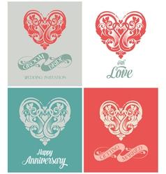 Wedding and Anniversary Greeting Card vector image