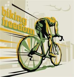 Biking cycling vector image vector image