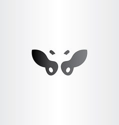black cow logo icon design vector image