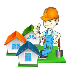 builder and at home vector image vector image