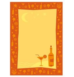 cafe menu background vector image