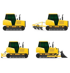 Caterpillar tractor 05 vector