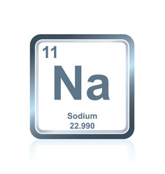 Chemical element sodium from the periodic table vector