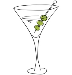 Martini vector image
