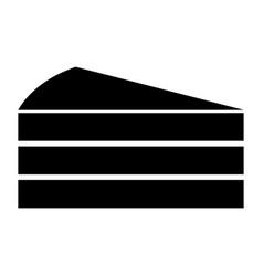 piece of cake black color icon vector image