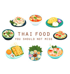 thai food should not miss vector image vector image