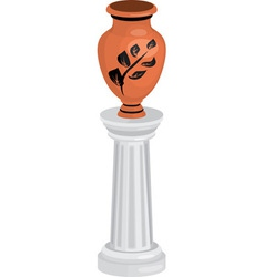 vase on column vector image vector image