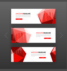 3d lowpoly solid abstract corporate banner vector image