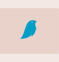 abstract bright blue bird logo icon icon for your vector image