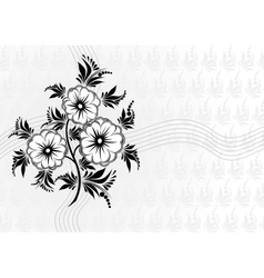Abstract flowers with background vector image