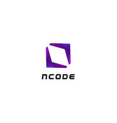 abstract simple clean code symbol logo design vector image