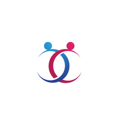 Adoption logo template icons vector
