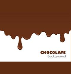 background of flowing dark chocolate vector image