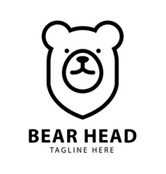 bear head logo design template vector image