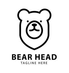 bear head logo design template vector image