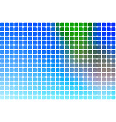 Blue green red abstract rounded mosaic background vector