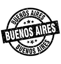 Buenos aires black round grunge stamp vector