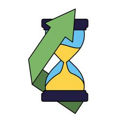 Business hourglass arrow finance vector