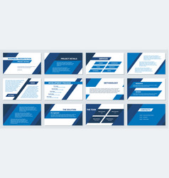 business presentation design template modern vector image