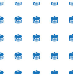 cake icon pattern seamless white background vector image