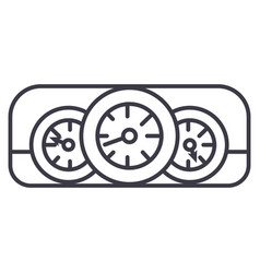 car dashboard line icon sign vector image