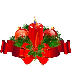 Christmas Candle design vector