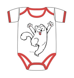 clothes of cute cartoon white cat vector image