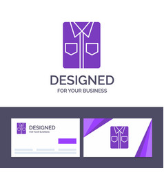 creative business card and logo template clothes vector image