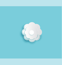 decorative white round flowers and paper cut vector image