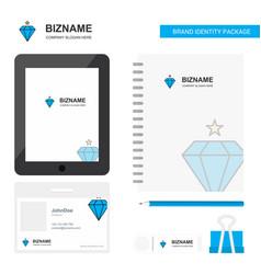 diamond business logo tab app diary pvc employee vector image