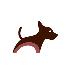 dog concept icon logo vector image