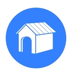 Doghouse icon in black style for web vector image