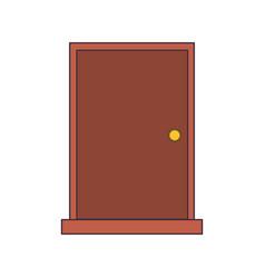 Door closed icon image vector